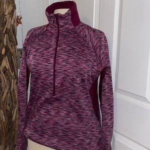 Columbia Purple And Black Half Zip Jacket